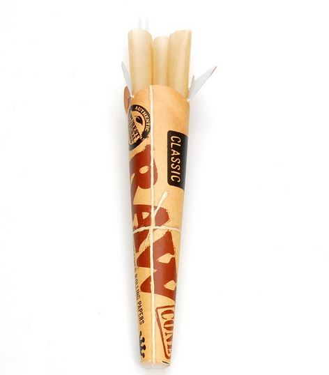 raw cone papers These raw king sized pre-rolled cigarette cones are made from the same quality raw unbleached natural rolling paper that you've come to love the cone shape lets more tobacco burn at the beginning, and then less and less tobacco is burned with each puff.