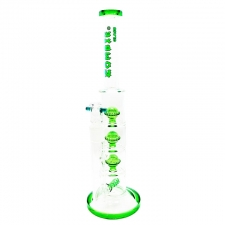 14 Inch Straight Stemless Bubbler with 1 Inline and 3 Ball Percolator from Zombie Glass CA-124