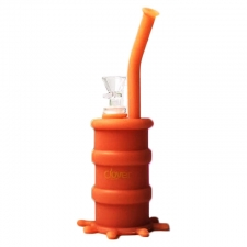 Mini Silicone Oil Barrell Waterpipe with Splash Base