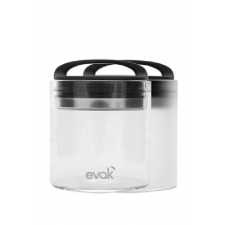 1 Compact Evak Clear Glass Storage Container with Air-Tight Lids 16 oz