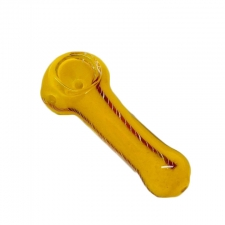 Small Candy Stripe Frit Glass Handpipe