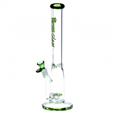Hoss Glass 7 mm Straight Tube 16 Inch Bong Triple Inline Diffuser H142-B