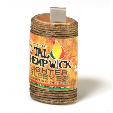 I-Tal Hemp Wick Lighter Sleeve - 20ft of Organic Hemp and Beeswax Wick