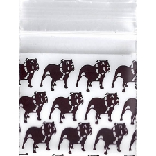 Brown Bull Dog 1x1 Inch Plastic Baggies 100 pcs.