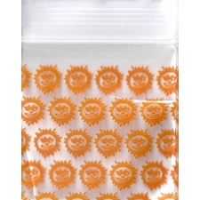 Orange Sun 1.25x1.25 Inch Plastic Baggies 1000 pcs.