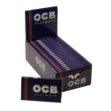 OCB Ultimate Regular Single Width Rolling Papers Box 25 Packs