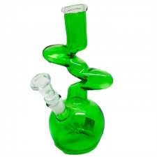 8 Inch Z Shaped Colored Glass Bong