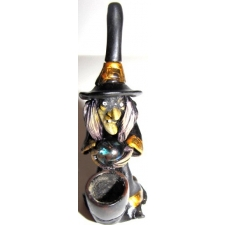 Black Witch with Crystal Ball Pipe - PM1702