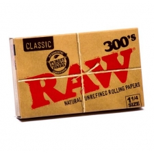 Raw Classic 1 1/4 300 leaves Rolling Papers Pack