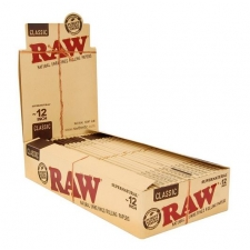 Raw Classic 12 Inch Rolling Papers Box (20 Packs)