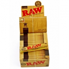 Raw Classic King Size Slim Rolling Papers Box (50 Packs)
