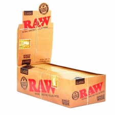 Raw Classic Single Width Double Window Rolling Papers Box (25 Packs)