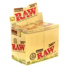 Raw Organic Hemp 1 1/4 300 leaves Rolling Papers Box (40 Packs)