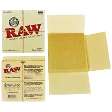 5 x 5 Raw Parchment Paper Sheets - Pack of 100