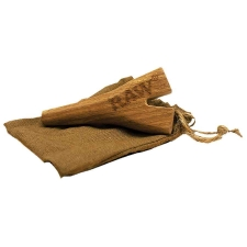 Raw Wooden Double Barrel Holder for SuperNatural Cones