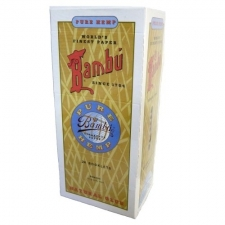 Bambu Pure Hemp Square Regular Rolling Papers Box of 24 Pack