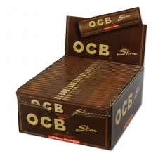 OCB Unbleached King Size Slim 110mm Rolling Papers Box (50 Packs)