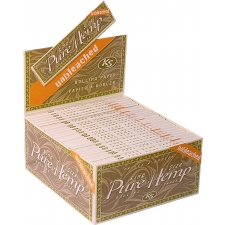 Pure Hemp King Size Unbleached 110mm Rolling Papers Box of 50 packs