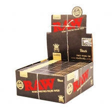Raw Black King Size Slim 110mm Rolling Papers Box