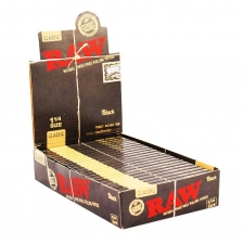 Raw Black 79mm Rolling Papers Box