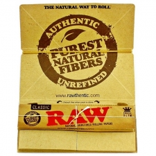 Raw Classic King Size Slim Artesano 110mm Rolling Paper with Tips and Tray