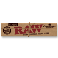 Raw Classic King Size Slim Connoisseur 110mm Rolling Paper with Tips