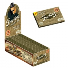 Smoking Organic Regular Double Window Rolling Paper Box of 25 Packs