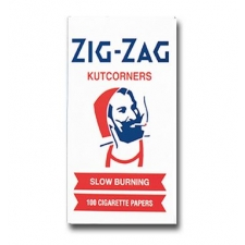 Zig Zag Kut Corners Regular Rolling Papers Box of 25 Pack