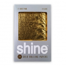 Shine 24k Gold Rolling Papers - 2 sheet - 1 1/4