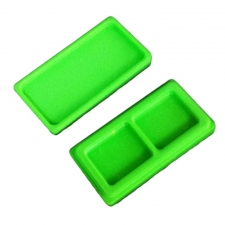 Stackable Rectangle Silicone Non-Stick Container with 2 Inside Compartments