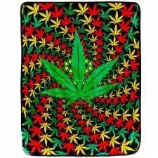 3D Rasta Leaf Spiral Fleece Blanket 50X60