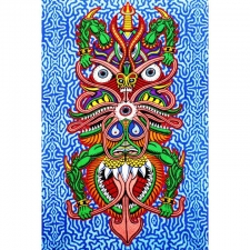 3D Boogieman by Chris Dyer Tapestry - BedSheet 30X45