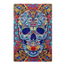 3D Skull By Chris Pinkerton Tapestry - BedSheet 30X45