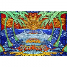 3D Epic Surf By Chris Pinkerton Tapestry - BedSheet 60x90