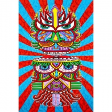 3D Hungry Eyes by Chris Dyer Tapestry - BedSheet 60x90