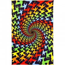 3D Peace Dove Spiral Tapestry By Taylar McRee Tapestry - BedSheet 60x90