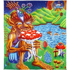 3D Shroom Muncher by Chris Dyer Tapestry - BedSheet 85x100