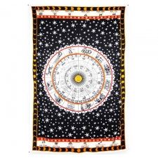 Zest For Life Zodiac Astrology Tapestry - BedSheet 52x80