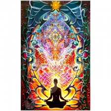 Mike Dubois Meditation Matrix Heady Art Print - BedSheet 53X85