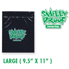 Smelly Proof LG 4 mil Black Bags 9.5 x 11 Inch