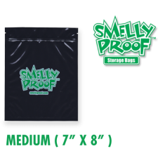 Smelly Proof Medium 4 mil Black Bags 7 x 8 Inch
