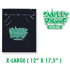 Smelly Proof XL 4 mil Black Bags 12 x 17.5 Inch