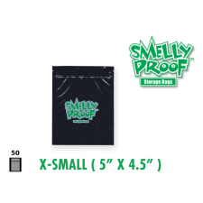 Smelly Proof Extra Small Black Bags 5'' x 4.5'' Pack of 50