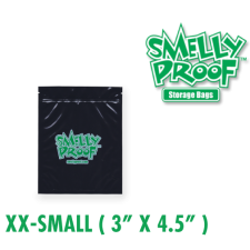 Smelly Proof XXSmall 4 mil Black Bags 3 x 4.5 Inch
