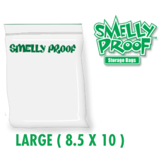 Smelly Proof Large 3 mil Clear Bags 8.5 x 10 Inch