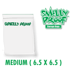 Smelly Proof Medium 3 mil Clear Bags 6.5 x 6.5 Inch