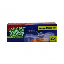 Smelly Proof Medium Clear Bags 6.5'' x 6.5'' Box of 25