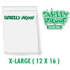 Smelly Proof X-Large 3 mil Clear Bags 12 x 16 Inch