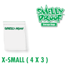 Smelly Proof XSmall 3 mil Clear Bags 3 x 4 Inch