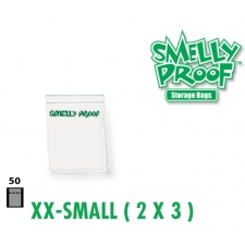 Smelly Proof Extra Extra Small Clear Bags 3'' x 4.5'' Pack of 50